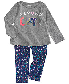 First Impressions Baby Girls Beyond Cute Tunic & Leggings Separates, Created for Macy's