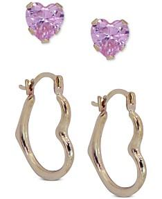 1cc6eda93c176 Heart Shaped Hoop Earrings - Macy's