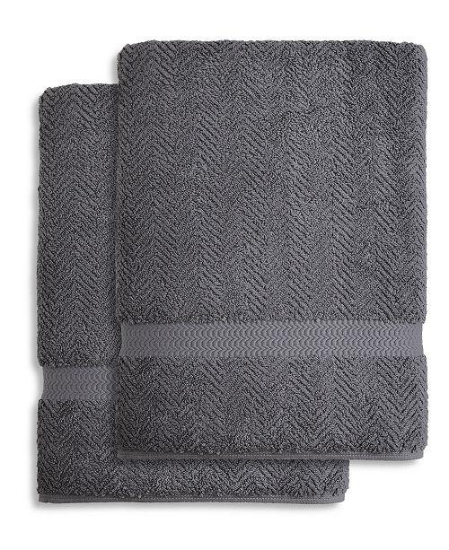 Linum Home Herringbone Bath Towel Collection