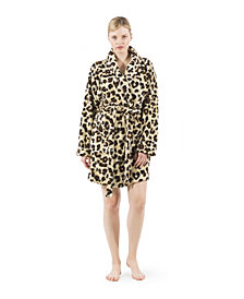 Linum Home Super Plush Leopard Bath Robe