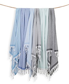 Linum Home Soft Stripes Pestemal Beach Towel