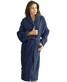 Linum Home Unisex Herringbone Weave Bath Robe
