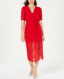 LEYDEN Ruched Midi Dress