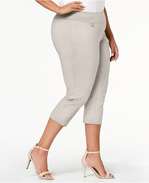 5a4a942343ef8 ... Alfani Plus Size Tummy-Control Pull-On Capri Pants