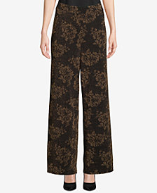 ECI Wide-Leg Jacquard Pants