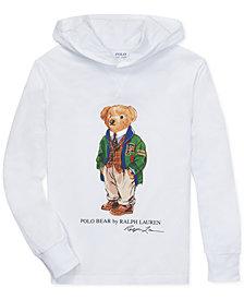 Polo Ralph Lauren Big Boys Polo Bear Hooded Long-Sleeve Cotton T-Shirt