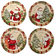 Certified International Holiday Wishes 4-Pc. Canape Plate asst.