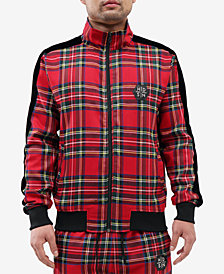 Hudson NYC Men's Madras Plaid Track Jacket