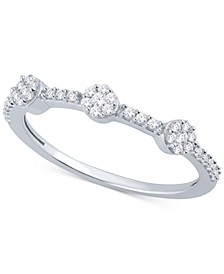 Diamond Mini-Cluster Ring (1/4 ct. t.w.) in Sterling Silver