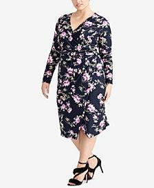 RACHEL Rachel Roy Trendy Plus Size Floral Midi Dress