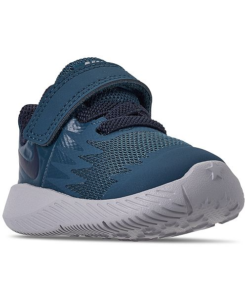 8de39c6a7ec ... Nike Toddler Boys  Star Runner Adjustable Strap Running Sneakers from  Finish ...
