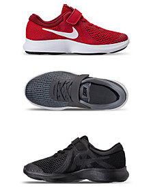 Nike Little Boys' Revolution 4 Stay-Put Closure Athletic Sneakers from Finish Line