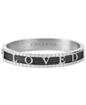 Charriol 4Ever Loved Bangle Bracelet in Pvd Stainless Steel & Gunmetal-Tone
