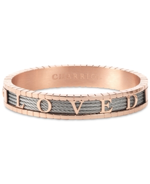 Charriol 4Ever Loved Bangle Bracelet in Pvd Stainless Steel & Rose Gold-Tone