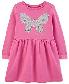 Carter's Toddler Girls Sequin Butterfly Fleece Dress