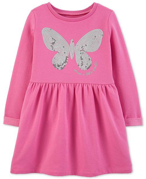 Carter's Toddler Girls Sequin Butterfly Fleece Dress