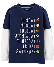 Toddler Boys Layered-Look Cotton T-Shirt
