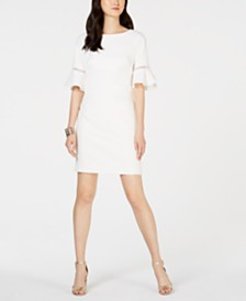 Jessica Howard Petite Petal-Sleeve Shift Dress