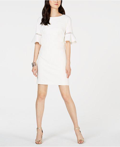 c86bd7fa834e8 Jessica Howard Petite Petal-Sleeve Shift Dress & Reviews - Dresses ...