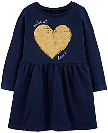 Carter's Toddler Girls Sequin Heart Fleece Dress