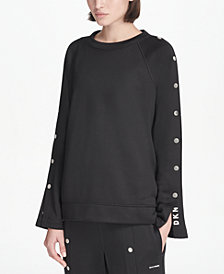 DKNY Sport Snap Bell-Sleeve Top, Created for Macy's
