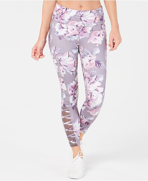 Ideology Explode Printed High-Rise Cutout Leggings, Created for Macy's