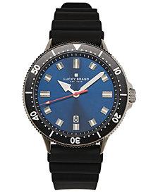 Lucky Brand Men's Dillon Black Silicone Strap Watch 42mm