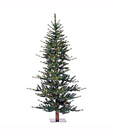 7 ft Minnesota Pine Half Artificial Christmas Tree With 300 Clear Lights