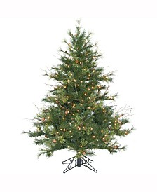 Vickerman 4.5 ft Mixed Country Pine Slim Artificial Christmas Tree With 250 Clear Lights