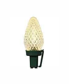 Vickerman 25 Warm White C7 Led Light On Green Wire, 16' Christmas Light Strand