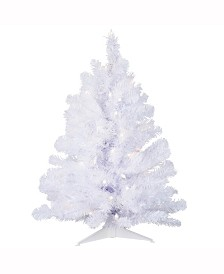 Vickerman 2 ft Crystal White Spruce Artificial Christmas Tree With 50 Clear Lights