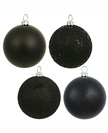 "Vickerman 3"" Black 4-Finish Ball Christmas Ornament"