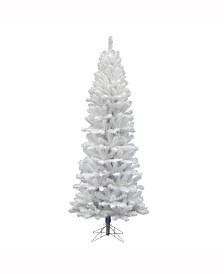 Vickerman 8.5 ft White Salem Pencil Pine Artificial Christmas Tree Unlit