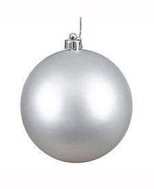 "Vickerman 15.75"" Silver Matte Ball Christmas Ornament"