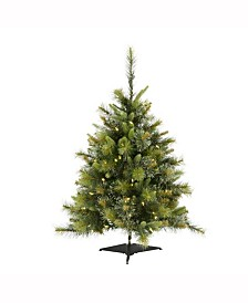 Vickerman 3 ft Cashmere Pine Artificial Christmas Tree With 100 Warm White Led Lights