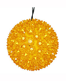"Vickerman 7.5"" Starlight Sphere Christmas Ornament With 100 Gold Wide Angle Led Lights"