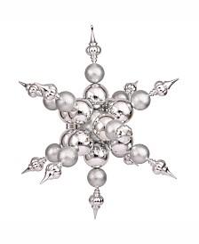 "Vickerman 39"" Silver Shiny Radical Snowflake Christmas Ornament"