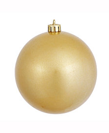 "Vickerman 4.75"" Gold Candy Ball Christmas Ornament"