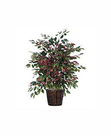 4' Artificial Capensia Extra Full Bush