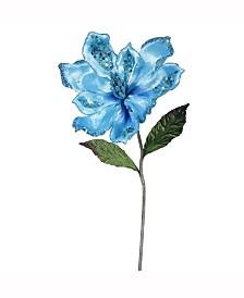 "Vickerman 22"" Sky Blue Velvet Magnolia Artificial Christmas Pick, 3 Per Bag"