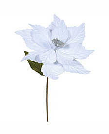 "Vickerman 22"" Silver Poinsettia Artificial Christmas Flower"