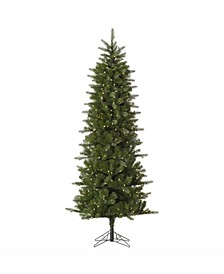 10 ft Carolina Pencil Spruce Artificial Christmas Tree With 550 Warm White Led Lights