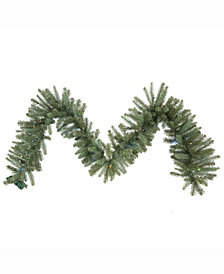 Vickerman 9 ft X 14 inch Colorado Spruce Garland, 230 Pe/Pvc Tips, Battery Operated 70 Led