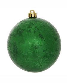 "Vickerman 6"" Green Crackle Ball Christmas Ornament"