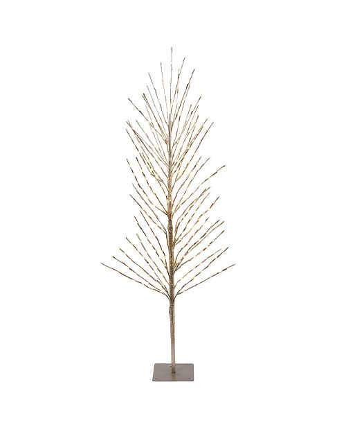 Vickerman 3'  Tree, 200L Warm White Lights, Metal Base, Champagne Tape