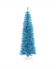 Vickerman 4.5 ft Sky Blue Pencil Artificial Christmas Tree With 150 Blue Led Lights