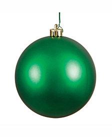 "Vickerman 12"" Green Matte Ball Christmas Ornament"