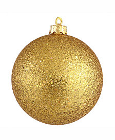 "Vickerman 12"" Antique Gold Sequin Ball Christmas Ornament"