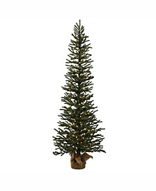 Vickerman 5 ft Mini Pine Artificial Christmas Tree