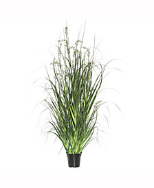 """Vickerman 48"""" Pvc Artificial Potted Green Sheep'S Grass X 240  And Plastic Grass X 20"""
